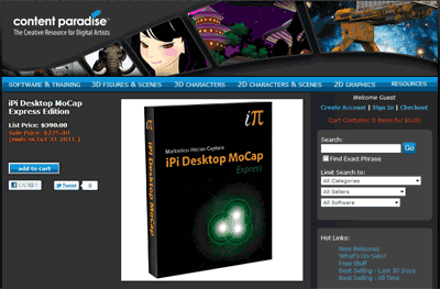 iPi Desktop MoCap Express Edition