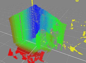 深度情報3D化・部屋のみ