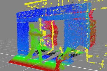 深度情報3D化・広い部屋