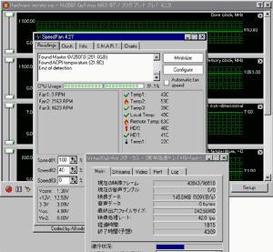 CPU温度とか