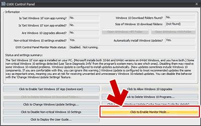 「Windows10を入手」アプリを監視