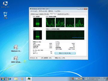 CPUが落ち着くまで5分くらい