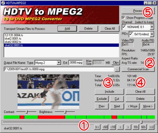 HDTVtoMPEG2の使い方2