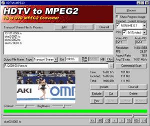 HDTVtoMPEG2起動画面