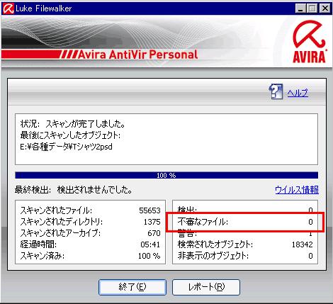 不審なファイル