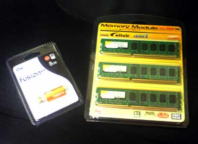 2GBメモリ3枚組みゲット