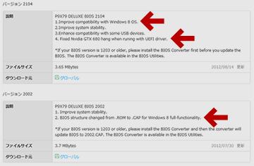 P9X79 Deluxeの場合、BIOS 2104以降が対応
