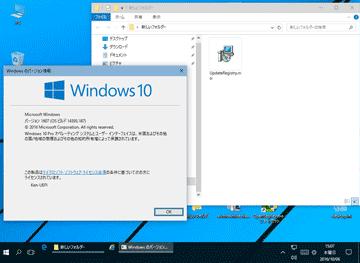 Windows10 (バージョン1607、OS ビルド 14393.187)