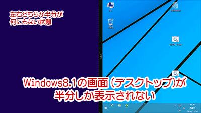 Windows8.1の画面が半分になった図