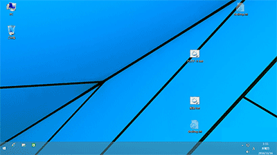 デスクトップは画面全体に表示されるように