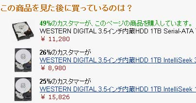 HDD購入