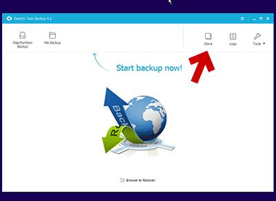 Windows PE版の EaseUS Todo Backupを起動