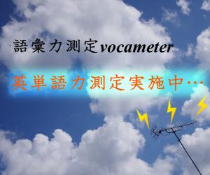 語彙力測定 vocameter
