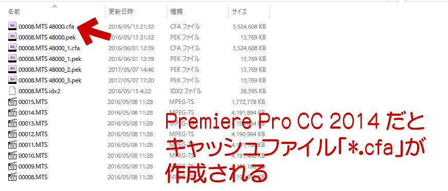 Premiere Pro CC 2014 の場合