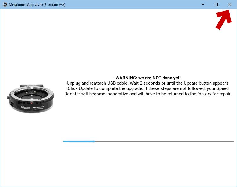 Metabones App を終了させる