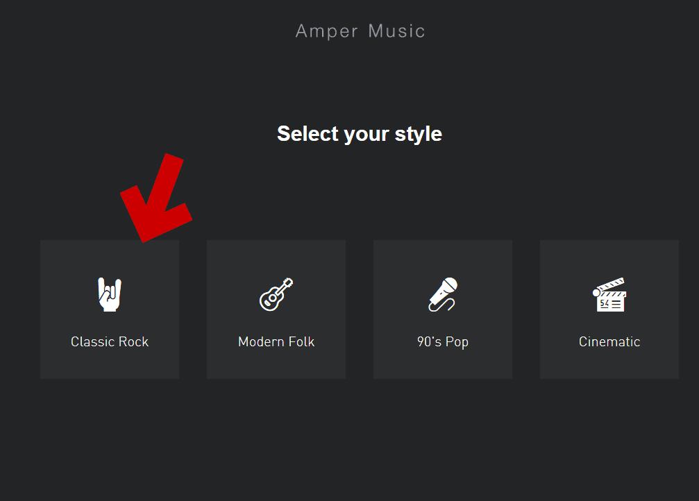 楽曲のジャンルを指定