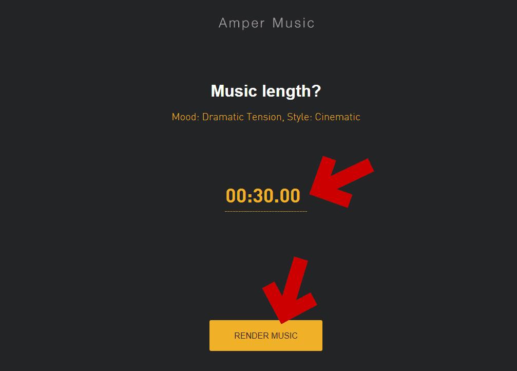 曲の長さを指定