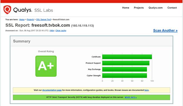 HTTPSの脆弱性診断結果
