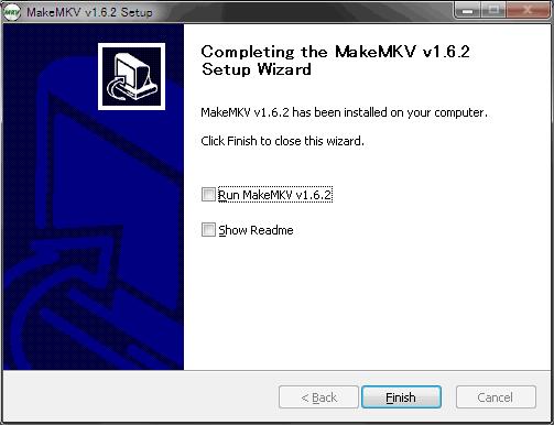 MakeMKVインストール6