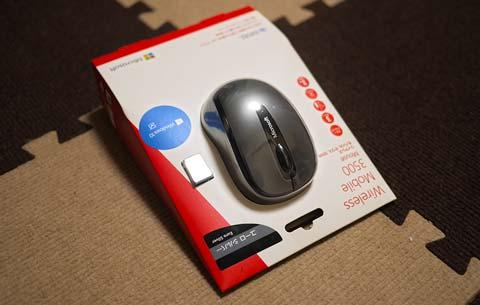 新しく買ったMicrosoftマウス3500