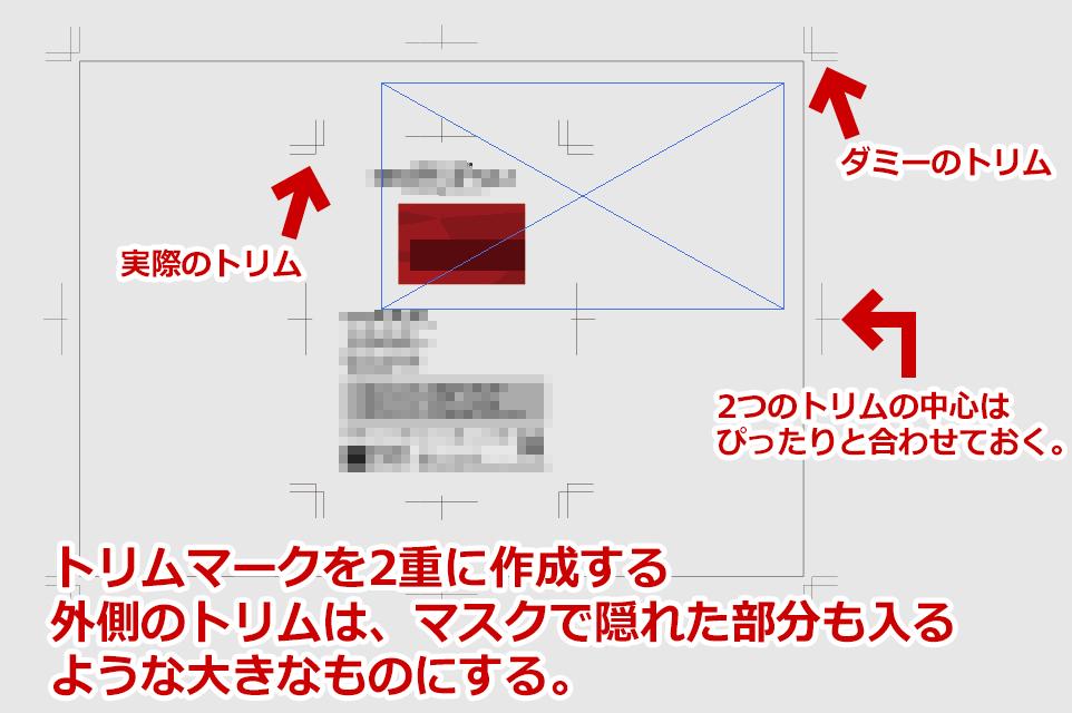 「オブジェクト」>「トリムマークを作成」の削除