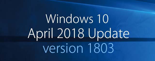 Windows 10 April 2018 Update (v1803) の不具合やトラブルのメモ