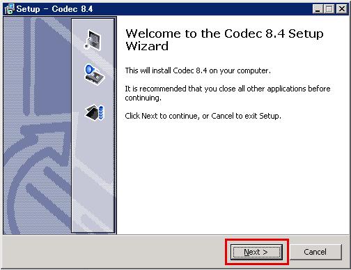 codec8.4のインストール2