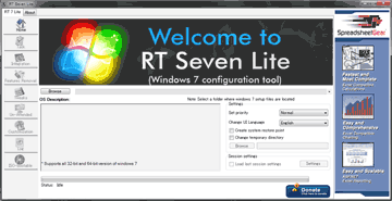 RT Se7en Lite 起動画面
