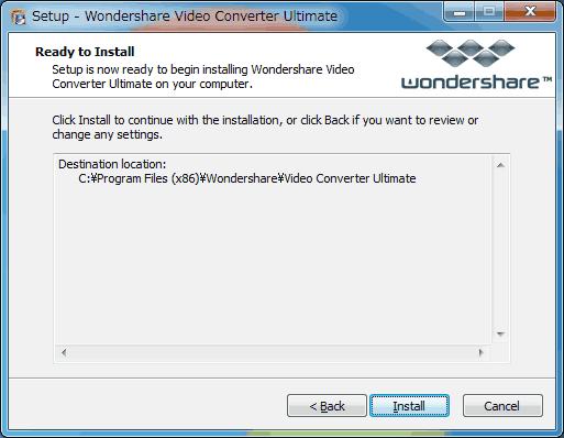 Video Converterインストール6英語版