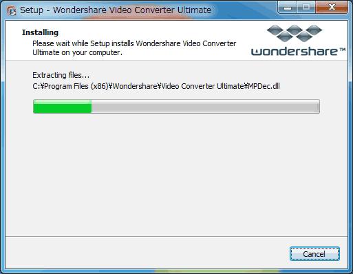 Video Converterインストール7英語版