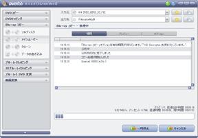 DVDFab HD Decrypterのメインムービーでコピー中の図
