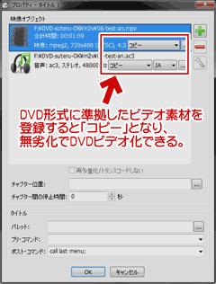 DVD形式に準拠したビデオ素材