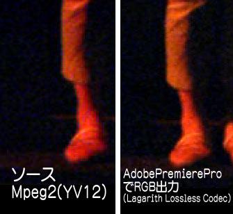 Adobe Premiere Pro CS5でYV12をRGBに変換