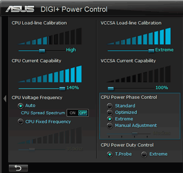 130MHzx 33倍時の設定値 DIGI Power