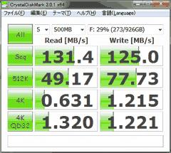 2TBのHDDを分割、内側