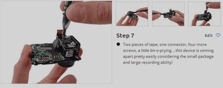 GoProのカメラセンサー