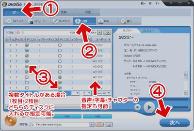 DVDFab9の分割