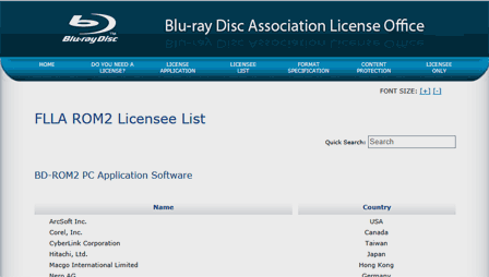 Blu-ray Disc Association License Office