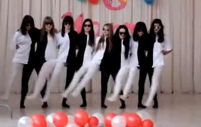 白黒ラインダンス