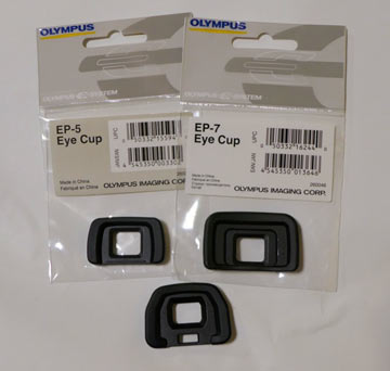 OLYMPUS EP-5 とOLYMPUS E-3用 EP-7。