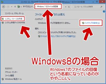 Windows8のシステム イメージから回復