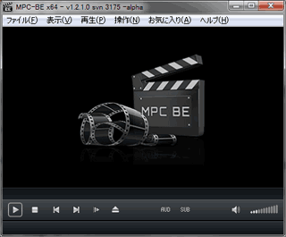 MPC-BEの起動画面
