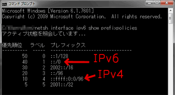 netsh interface ipv6 show prefixpolicies