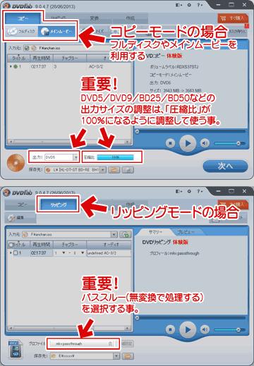 DVDFab HD Decrypterの使い方概要図