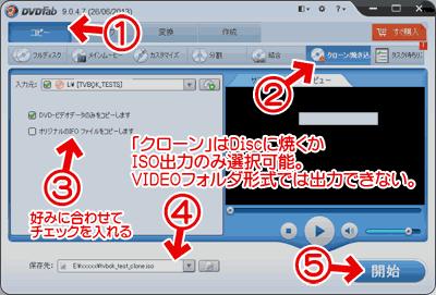 DVD・BDのクローン機能