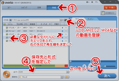 DVDFab 9のオリジナルDVD・BDを作成機能