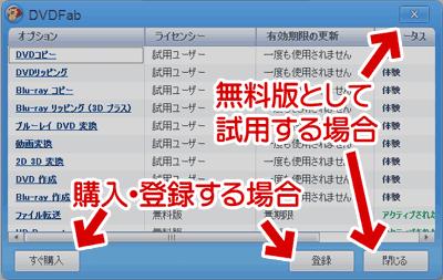 DVDFab9の利用ステータス