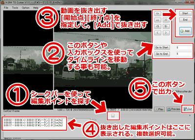 H264TS_Cutterの使い方