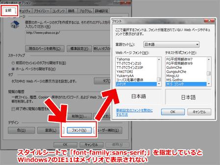 Windows7のIE11