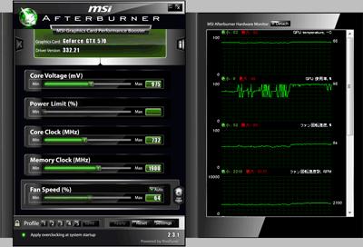 GTX570 デフォルトの状態